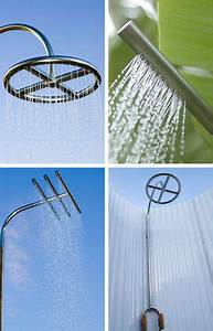 Douche Extérieure Inox : douche ext rieure 10 douches design plastique et acier inox ~ Premium-room.com Idées de Décoration