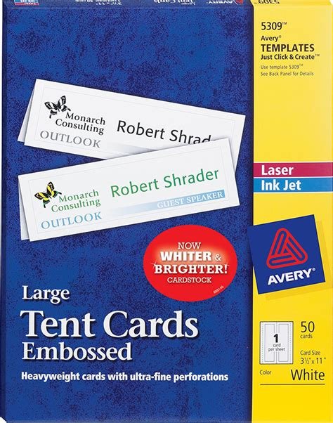 blank business card template avery 5376 avery 174 large embossed tent cards 5309 avery singapore
