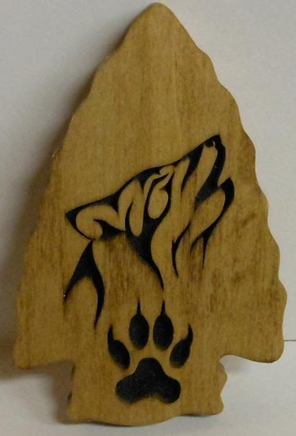 tims woodworking wolf arrow head woodworking wood