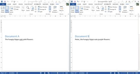 word    compare  document  differences