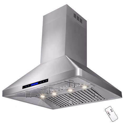kitchen stove top exhaust fans 36 quot stainless steel island range hood kitchen cooking