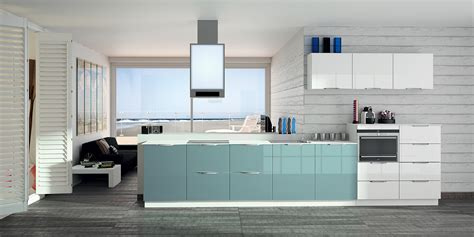 cuisine gris bleu cuisine mur bleu turquoise