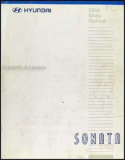 2000 hyundai sonata shop manual original repair service book gls ebay