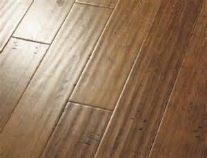 horizontal carbonized bamboo flooring handscraped strand