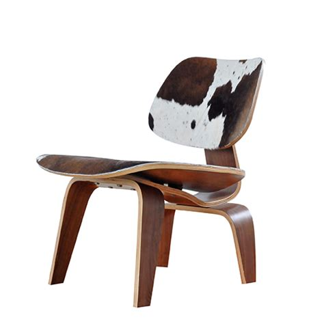 eames dining chair cowhide leather reproduction by home