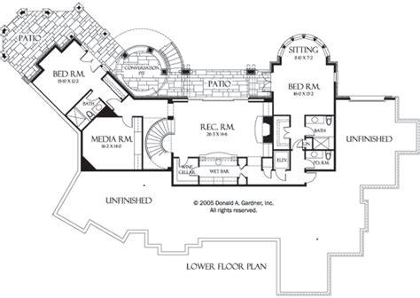 Walkout Lower Level House plans Luxury house plans