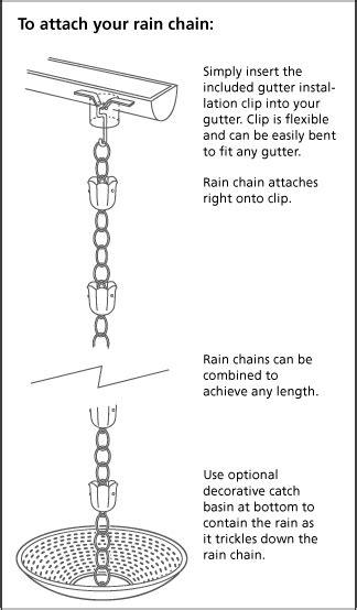 8.5' Mission Cups Copper Rain Chain