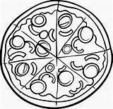 Pizza Coloring Pages Printable Hut Drawing Clipart Sketch Clipartmag Disegno Albanysinsanity Getdrawings Di Paper Getcolorings Colorare Da Articolo sketch template