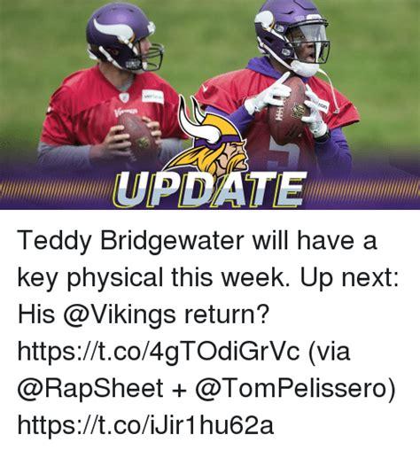 Teddy Bridgewater Memes - teddy bridgewater will have a key physical this week up next his return httpstco4gtodigrvc via