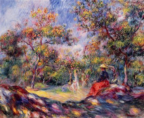 Woman In A Landscape Pierre Auguste Renoir
