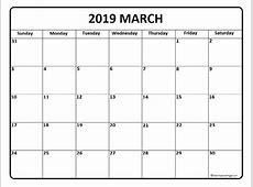 March 2019 Calendar – printable month calendar