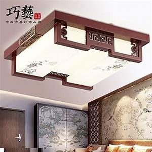 Wohnzimmer Lampe Holz : tydxsd dimmbare led chinesischen stil decke lampe ~ Lateststills.com Haus und Dekorationen