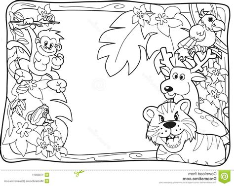 Coloring Jungle by 30 Jungle Animals Coloring Page Realistic Jungle Animal