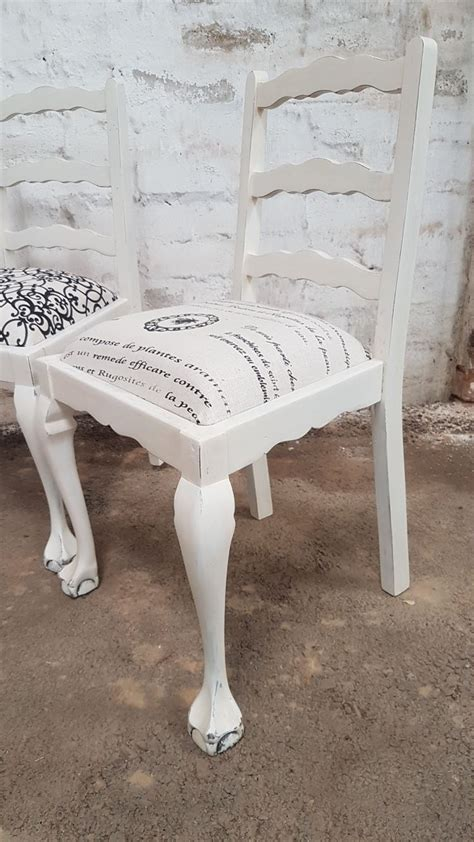 white painted ball claw ladder  chairs kings