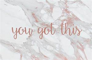 """""""You Got This Rose Gold Marble"""" Laptop Skins by skoemil"""