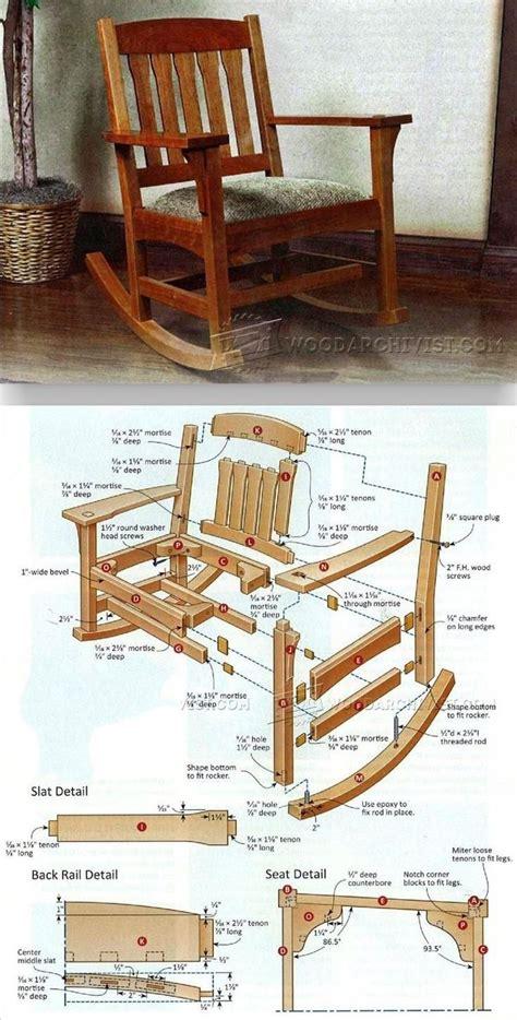 rocking chair plans ideas  pinterest rocking