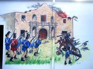 Battle of the Alamo 1836 Drawing