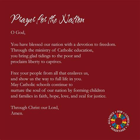 prayer   nation alliance  catholic education