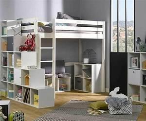Kinder Matratze 90x190 : kinder hochbett tanguy aus massivholz mit matratze ~ Frokenaadalensverden.com Haus und Dekorationen