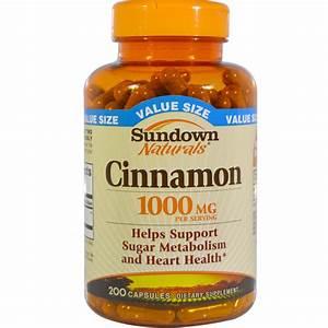 Sundown Naturals  Cinnamon  1000 Mg  200 Capsules