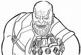 Infinity Coloring Thanos Gauntlet War End Colorir Marvel Desenhos Vingadores Avengers Pintar Imprimir Colorear Infinito Guerra Ofertasvuelo Dibujos Device Tool sketch template