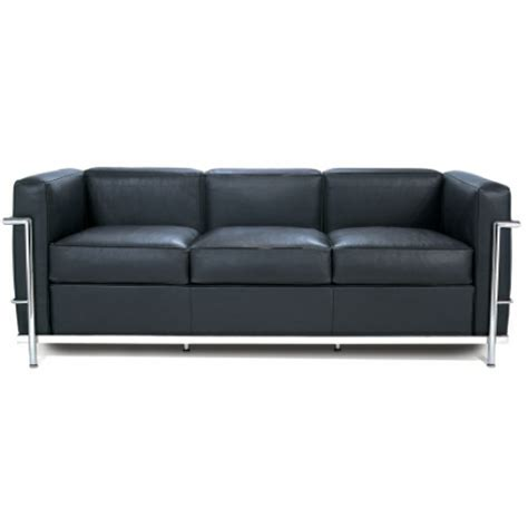 lc2 two seat sofa by le corbusier et al cassina leather le corbusier style lc2 3 seater sofa
