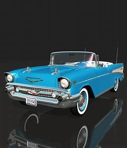 Chevrolet Bel Air 1957 : chevrolet bel air 1957 for vue 3d models 3dclassics ~ Medecine-chirurgie-esthetiques.com Avis de Voitures