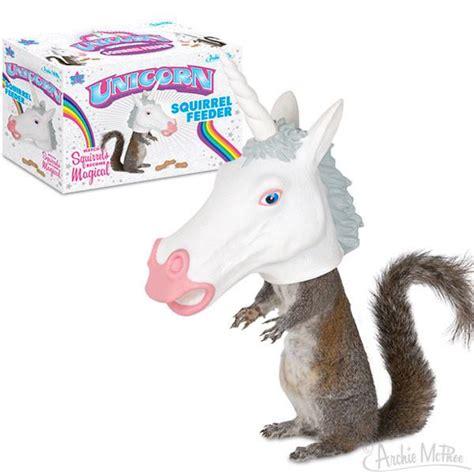 toilet seat unicorn squirrel feeder archie mcphee co