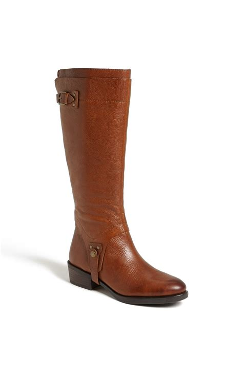 franco sarto bevel boot brown brandy lyst