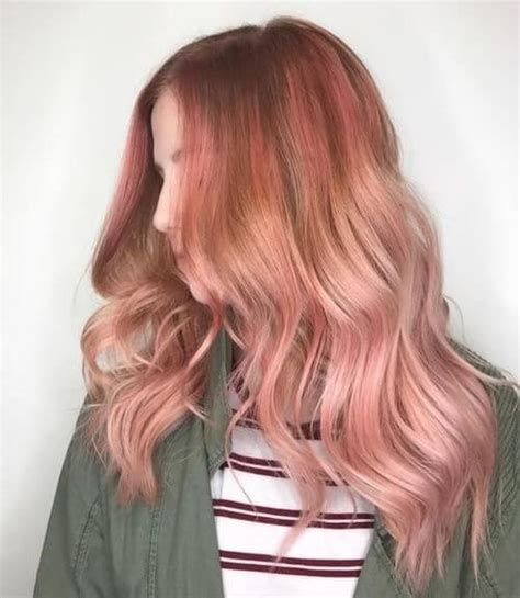 smoking hot rose gold hair color ideas