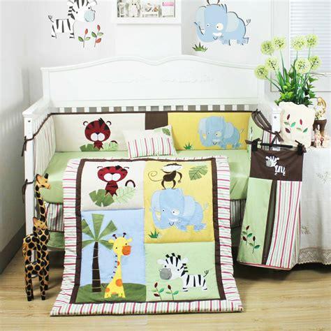 pcs beautiful jungle animal baby boys crib  bedding