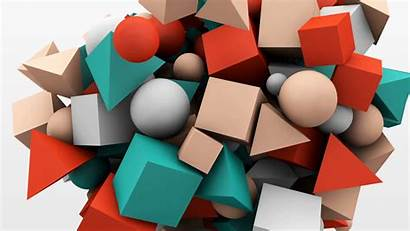 Geometric 3d Shape Abstract Background Graphics Dynamic