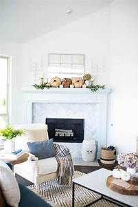 Neutral Fall Living Room Home Tour A Blissful Nest