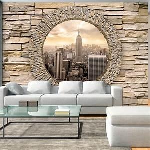 vlies fototapete 3 farben zur auswahl tapeten new york With balkon teppich mit tapete 3d stein