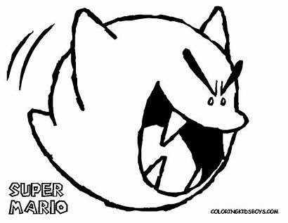 Mario Coloring Pages Super Ghost Characters Colouring