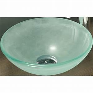 Vasque En Verre : vasque verre depoli bonde ~ Premium-room.com Idées de Décoration