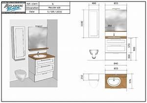 Plan De Meuble : salle de bain avec un petit meuble de 85 cm fonctionnel atlantic bain ~ Melissatoandfro.com Idées de Décoration