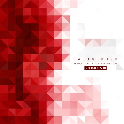 abstract red triangle vector background