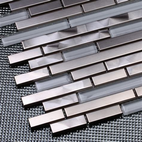 aliexpress buy silver stainless steel mixed white glass mosaic tiles for kitchen