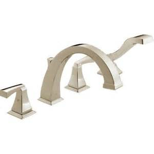 delta dryden 2 handle deck mount roman tub faucet with