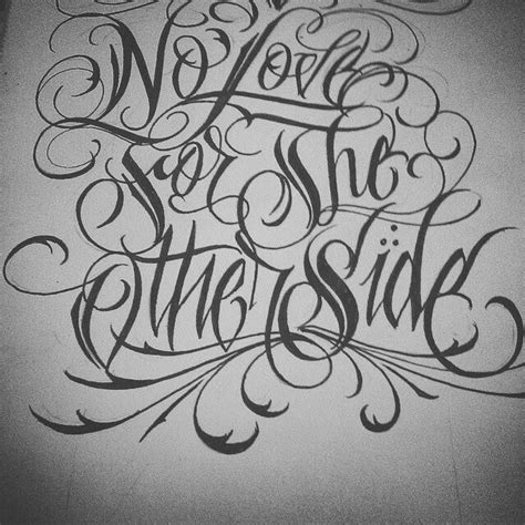 chicano arte lettering tattoo fonts chicano lettering