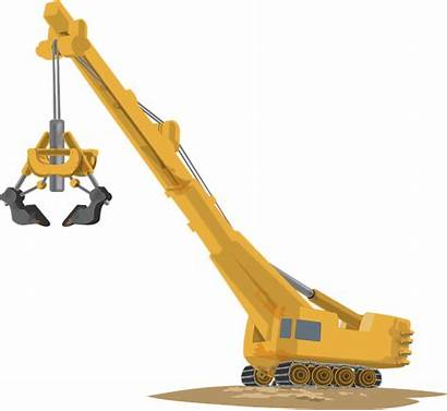 Crane Construction Equipment Heavy Clipart Machine Lifting