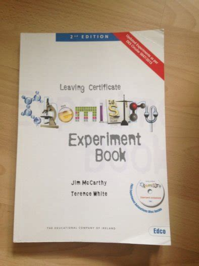 chemistry experiment book leaving certificate  sale