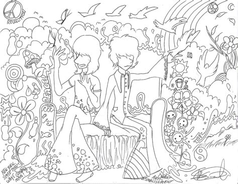 Trippy Coloring Pages Cake Ideas And Designs