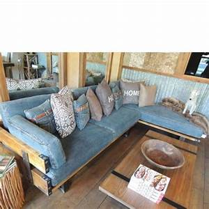 17 best images about denim living room on pinterest for Red denim sectional sofa