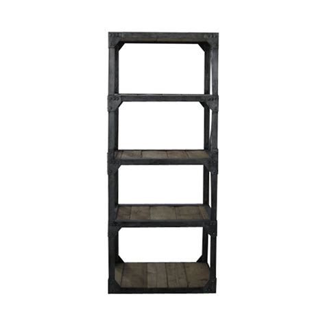 iron and wood bookcase vintage iron and reclaimed wood bookcase storage