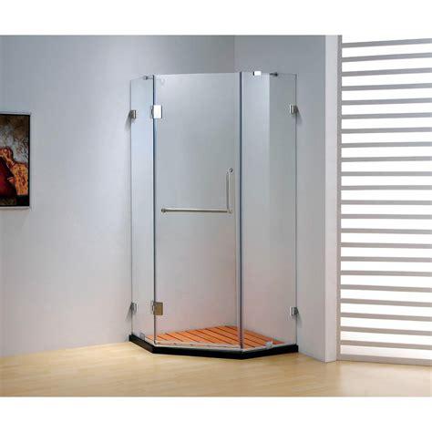 Frameless Neo Angle Shower Doors by Dreamwerks 39 4 In X 79 In Frameless Neo Angle Hinged