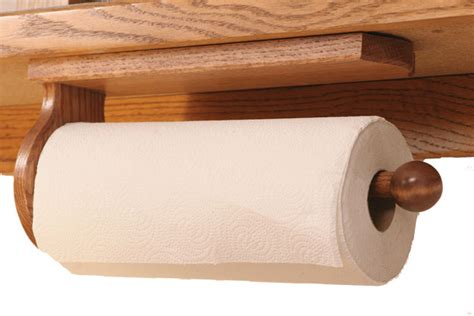 cabinet paper towel holder four seasons furnishings amish made furniture solid oak