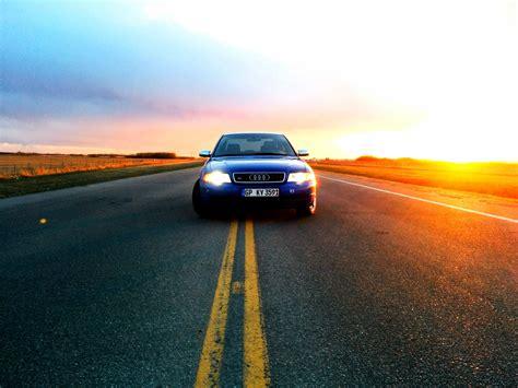 Audi, Sunset, Road Wallpapers Hd  Desktop And Mobile