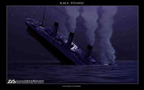 hd titanic stern cracking wallpaper